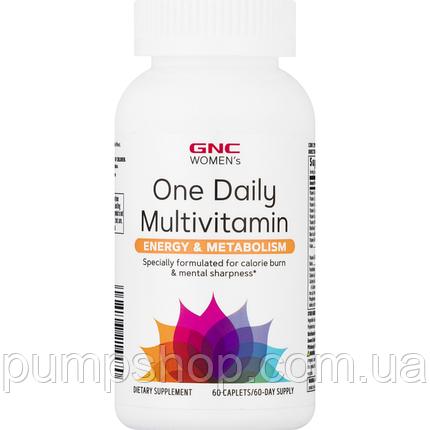 Витамины для женщин GNC Women`s One Daily Multivitamin Energy & Metabolism 60 таб., фото 2
