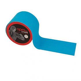 Кинезиологический тейп OPROtec Kinesiology Tape TEC57542 синій 5см*5м