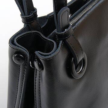Сумка Женская Классическая кожа ALEX RAI 03-01 1546 черная, фото 2
