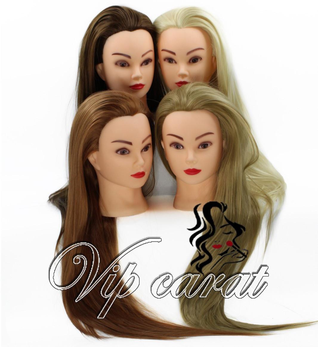 Учебная голова манекен для причесок 20% натуральных волос / кукла для парикмахера / манекен для плетения