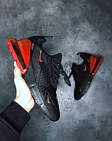 Мужские кроссовки Nike Air Max 270 Black\Red найк аир макс 270 реплика