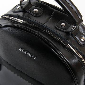 Сумка Жіноча Рюкзак шкіра ALEX RAI 03-01 8715 черная, фото 2