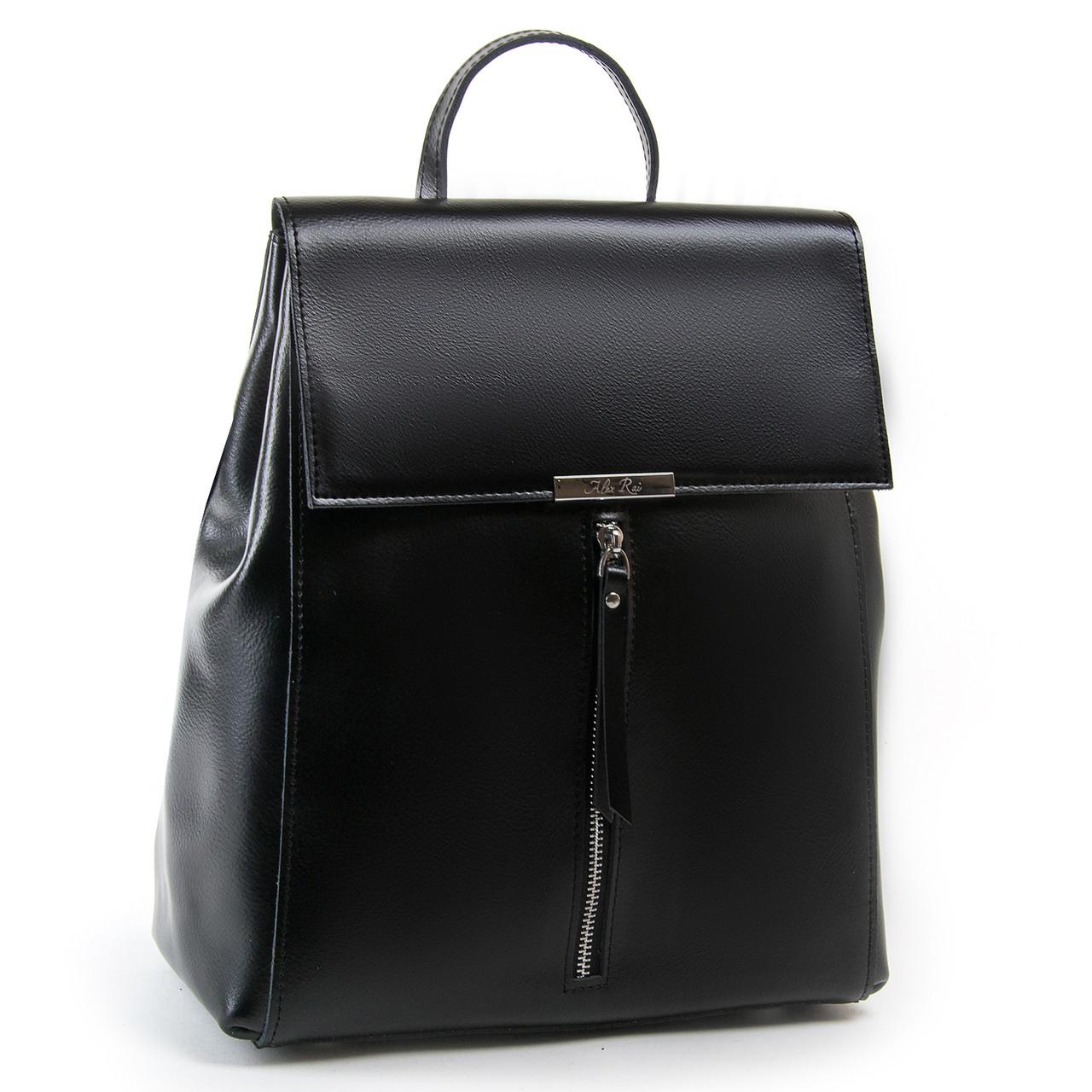 Сумка Женская Рюкзак кожа ALEX RAI 03-01 373 черная