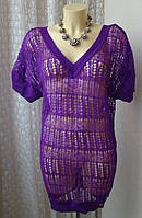 Платье женское свитер яркое ажурное нежное паутинка бренд Lipsy р.46 4398