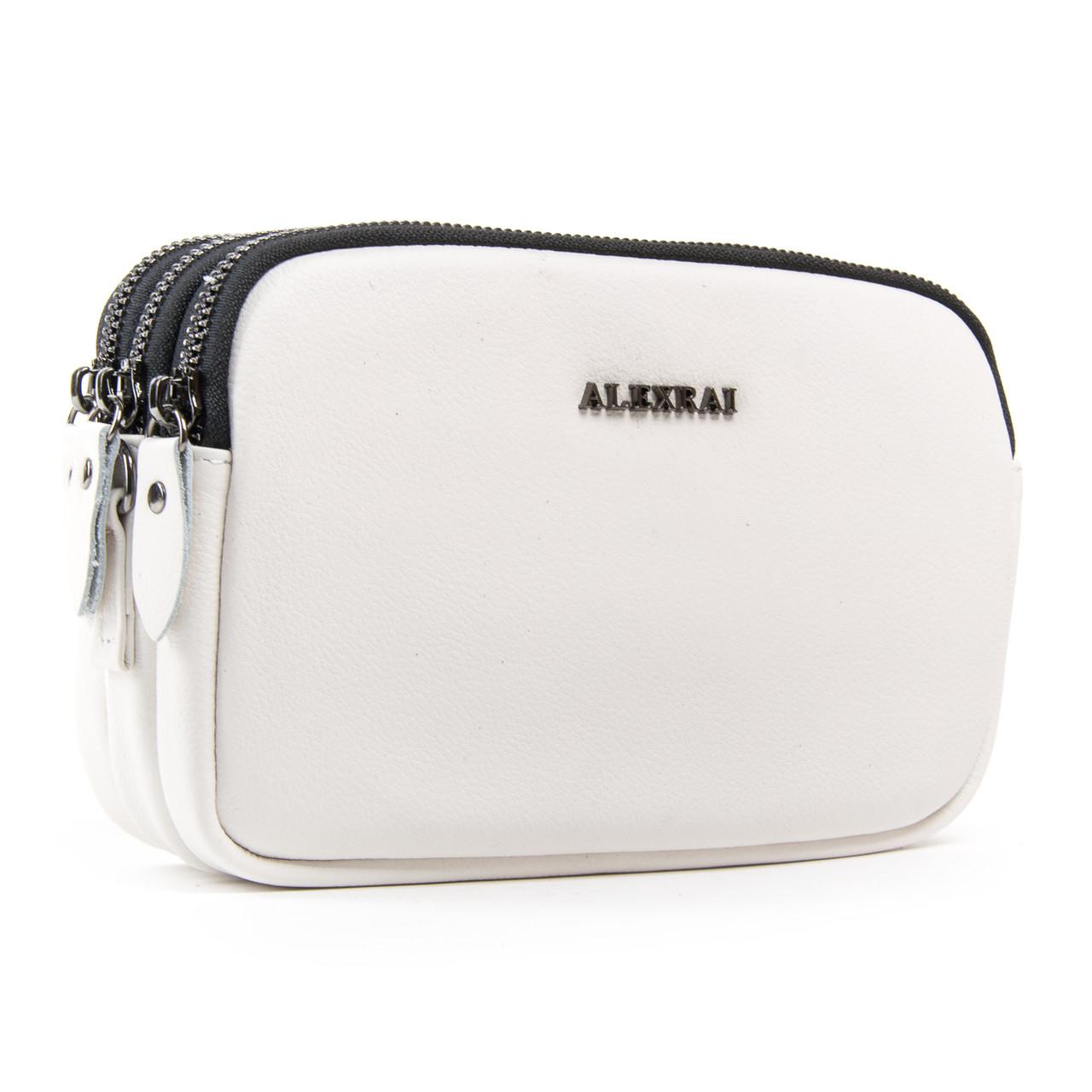 Сумка Женская Клатч кожа ALEX RAI 1-02 60061-11 белая