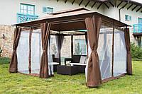 Павильон садовый 3 х 4 м с москитной сеткой Польша