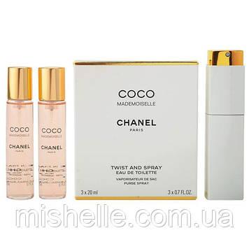 Набор Chanel Coco Mademoiselle (Шанель Коко Мадмуазель) 3*20мл.