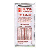 Калибровочный раствор HI70031 1413 µS/cm (мкСм) для кондуктометров HANNA 20мл,Германия