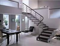 Лестницы второго этажа из металла