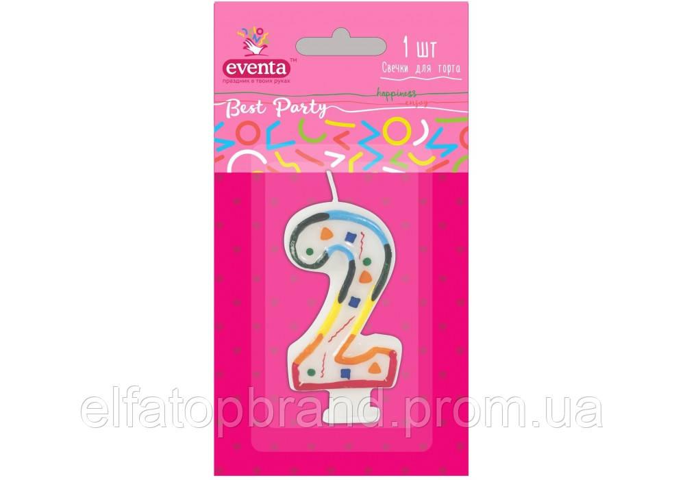 "EVENTA свічки для торту ""цифри"" 2"