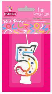 Свечи Для Торта Цифры 5 Best Party Евента EVENTA