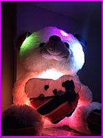 Мягкая игрушка мишка светящийся, медведь с сердцем, подарок для девушки, подарок для ребенка Тедди
