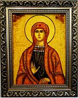 Именная икона из янтаря Ева іі-46 15*20