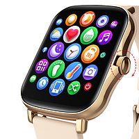 Женские Умные Смарт часы Smart Watch Y20 / P8 plus Тонометр Пульоксиметр IP67 Android iOS Gold