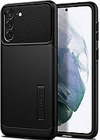 Чехол Spigen для Samsung Galaxy S21+ Plus - Slim Armor, Black (ACS02410)