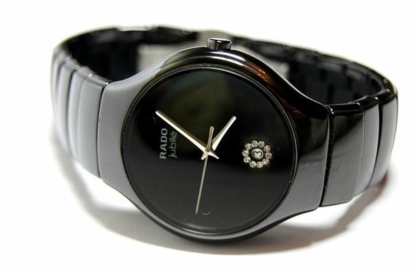 Стильні керамічні годинник Rado Jubile Black Радо ЕЛІТ унісекс