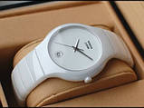 Стильные керамические часы Rado Jubile White Радо ЭЛИТ унисекс, фото 3