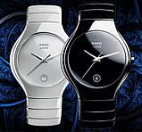 Стильные керамические часы Rado Jubile White Радо ЭЛИТ унисекс, фото 6