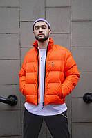 Короткая весенняя куртка-пуховик Пушка Огонь Holla оранжевая
