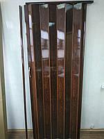 Двері гармошка №13 глуха міжкімнатні махонь 810*2030*6 мм доставка з Дніпра