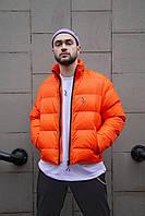 Короткая весенняя куртка-пуховик Пушка Огонь Holla оранжевая XL