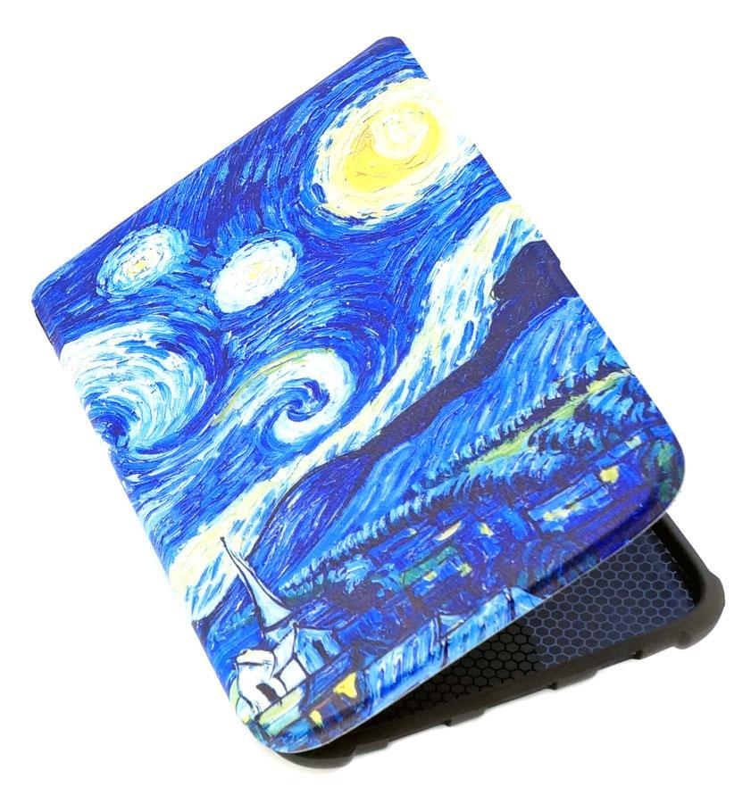 Обкладинка-чохол для PocketBook 627 Touch Lux 4 електронної книги з графікою Зоряна Ніч
