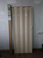 Двері міжкімнатні гармошка глуха №11 секвоя, 810*2030*6 мм
