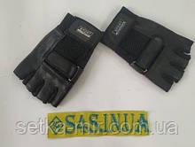 Рукавички спортивні багатоцільові BC-122 (шкіра) L