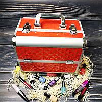 Чемодан для косметики, маникюра, визажистов (красный (крупный ромб))
