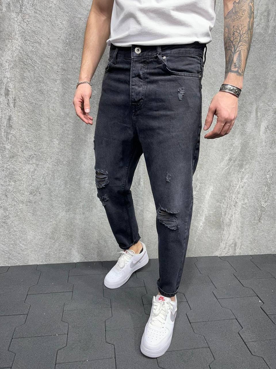 Чоловічі джинси рвані МОМ 2Y Premium 5926 antracit