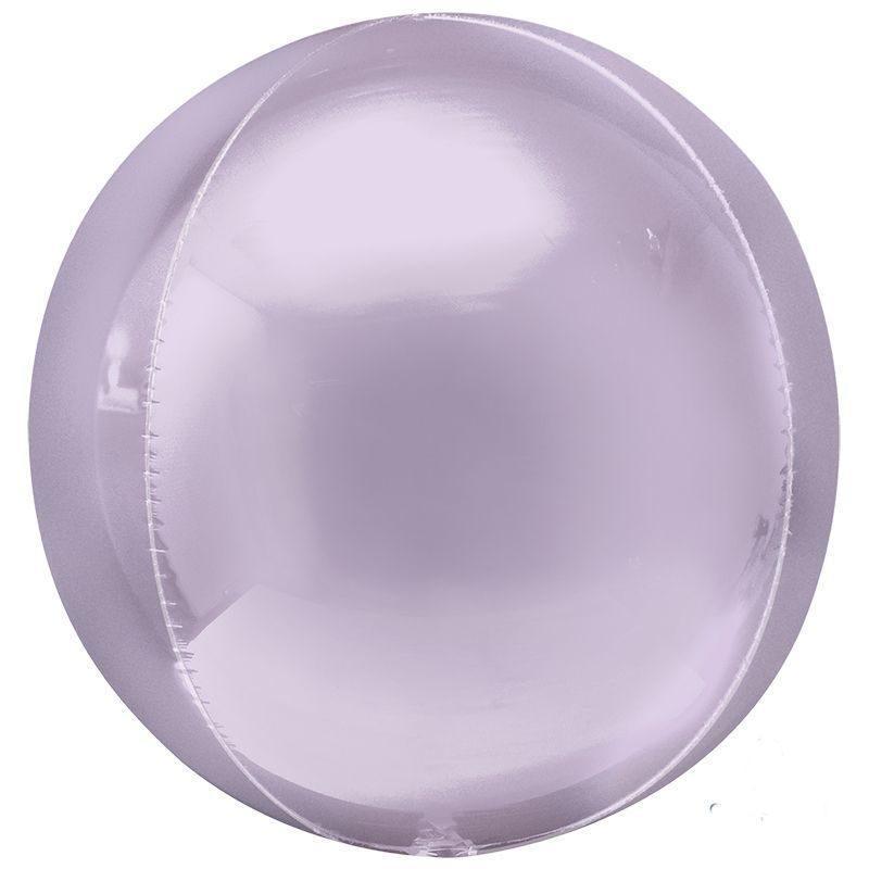 """Фольгована кулька 4D сфера бузковий 22"""" (55 см) Китай"""