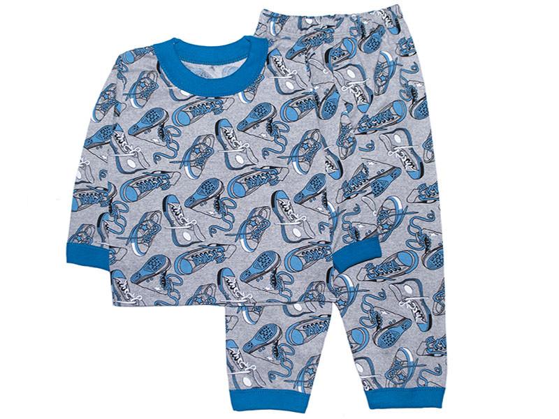 Дитяча піжама з начосом для хлопчика Кеди