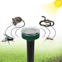 Ультразвуковый отпугиватель кротов, мышей, змей, крыс на солнечной батарее, круглый