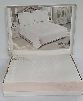 Постельное белье Maison D'or сатин бамбук 200х220 Adrienne White