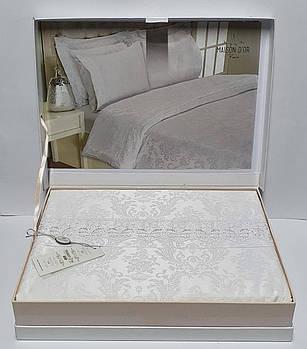 Постельное белье Maison D'or сатин бамбук 200х220 Zeyna Beyaz