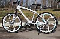 Велосипед горный на литых дисках BMW 21 скорость Белый взрослый детский подростковый