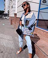 Женская модная джинсовая куртка
