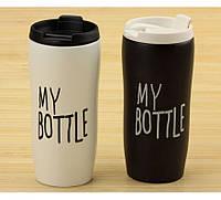"""Термочашка """"my bottle"""" черная, фото 1"""