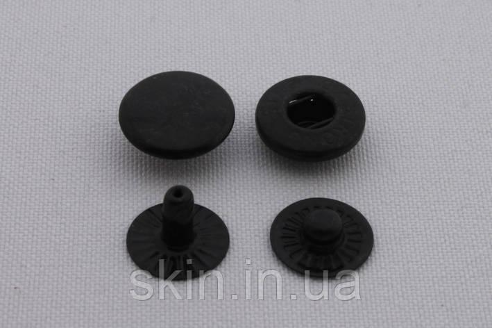 Кнопка альфа, діаметр - 12.5 мм, колір - чорний, в упаковці - 50 шт, артикул СК 5718, фото 2