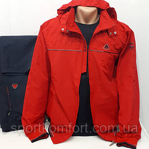 Турецький червоний спортивний прогулянковий костюм Soccer з плащової тканини штани прямі розмір м л