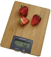 Кухонные весы Electronic Kitchen Scale Original MS-A Wood со стеклянной поверхностью до 5кг.