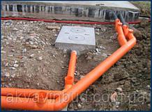 Монтаж  системи каналізації, септика