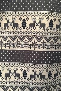 Трикотаж (Ангора на вельбо) принт Скандинавский орнамент олени серый