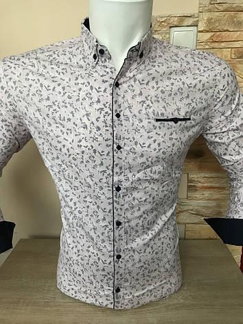 Рубашка длинный рукав G-Port*740 с принтом, белая, фото 2