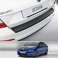 Пластикова захисна накладка на задній бампер для Skoda Octavia III A7  2.2013-2.2017