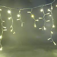 Светодиодная гирлянда Бахрома Flash, 3х0.5 м, 200 LED, ПВХ Белый, Теплый белый