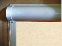 Ролеты тканевые (рулонные шторы) Flax Блэкаут Besta uni закрытый короб, фото 1