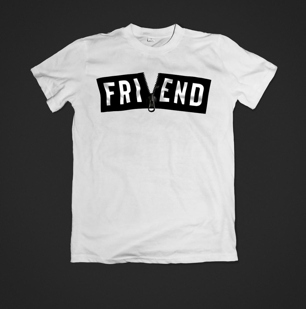 Футболка YOUstyle чоловіча Friend 0523 XS White