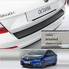 Пластиковая защитная накладка заднего бампера для Skoda Octavia III A7 5dr liftback 2.2013-2.2017
