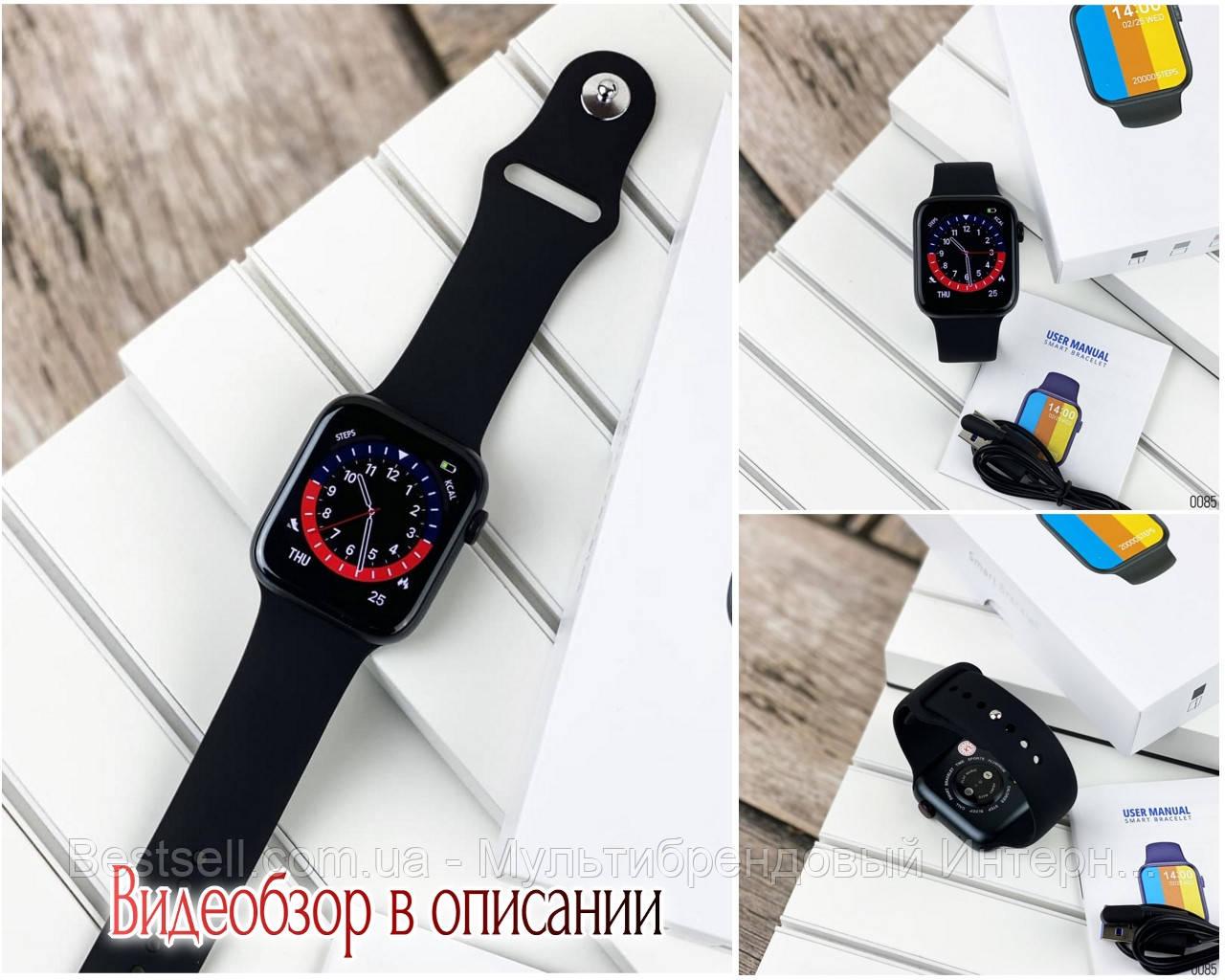 Смарт часы наручные  Modfit NK03 All Black черные / смарт часы модфит